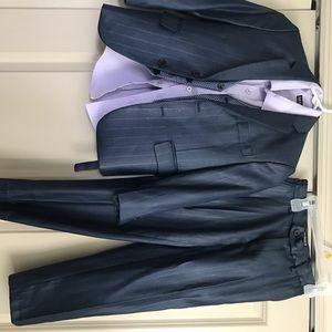 4 piece navy blue suit size 6
